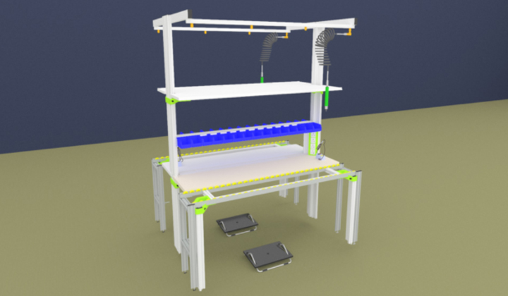 Assembly Workstation & Ergonomic Workbench - Product Assembly Station